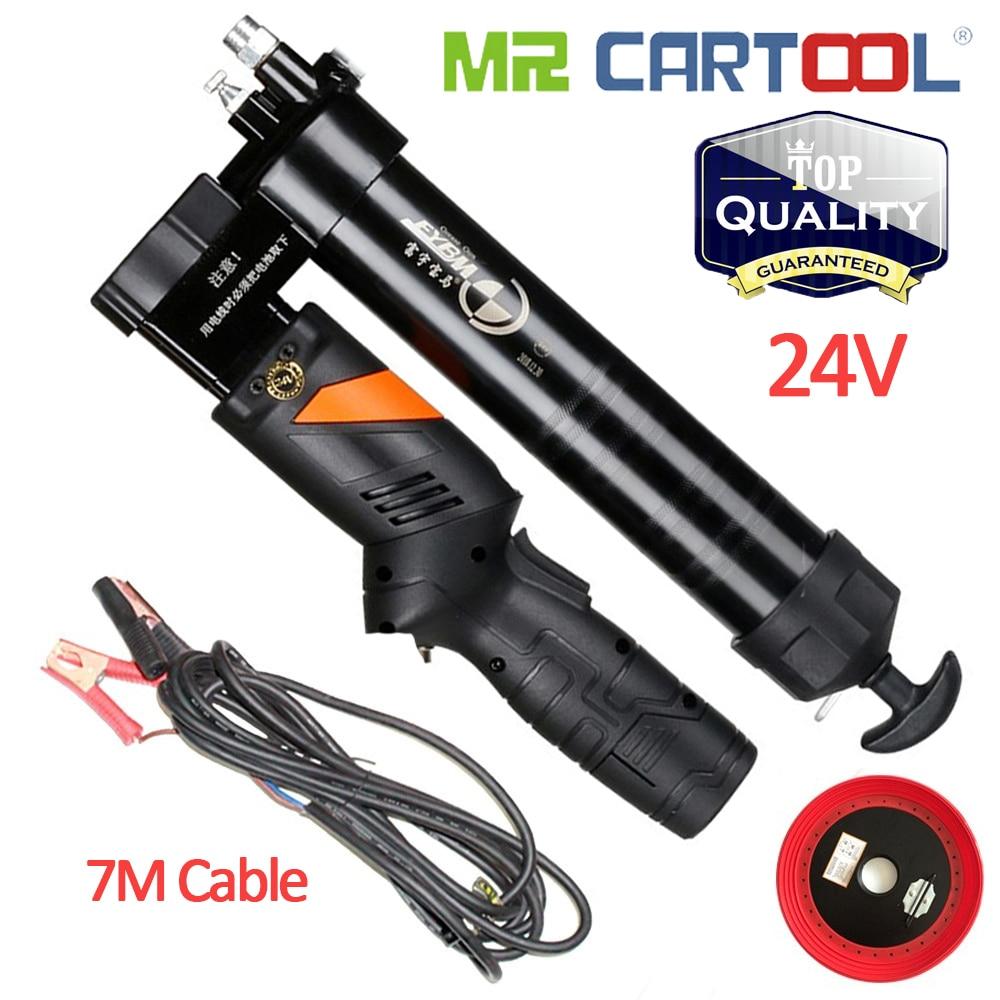 السيد Cartool BM-07 24V الكهربائية الشحوم بندقية المحمولة قابلة للشحن بطارية ليثيوم الميكانيكية ملء بندقية للحفارات