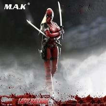 TE021 6 ensemble complet de collection femme Deadpool 2.0 Lady Katana figurine daction avec 3 paires dyeux interpenables arme pour Fans cadeaux