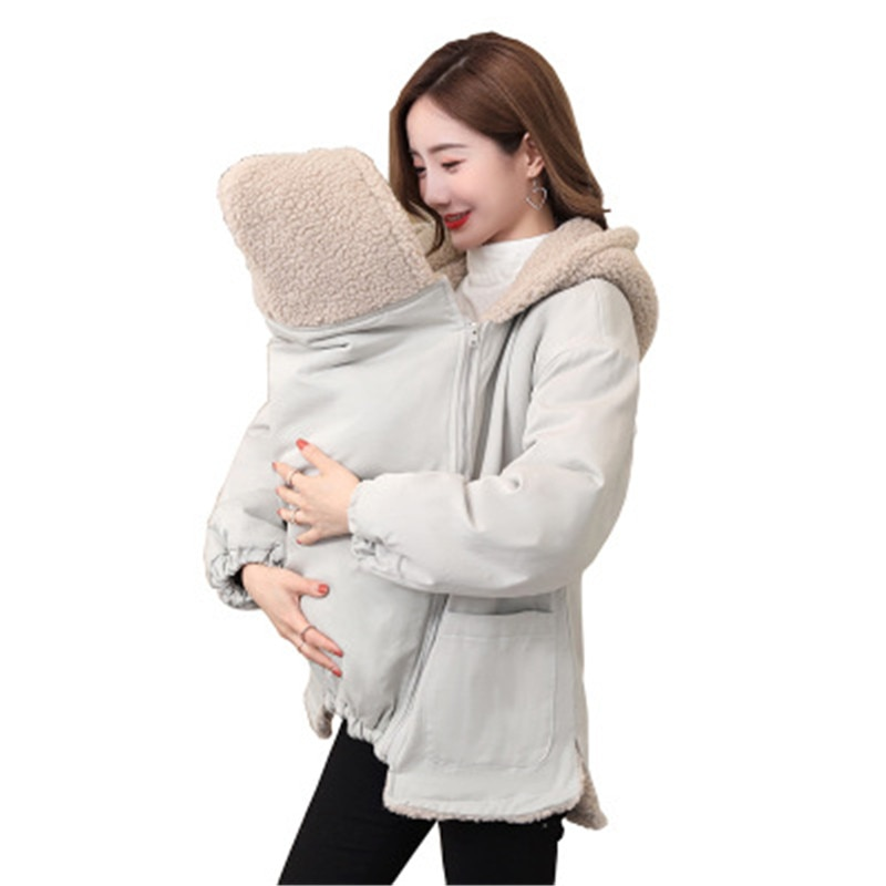 M 2XL Baby Carrier Jacket Kangaroo Hoodie Winter Maternity Hoody Outerwear Coat For Pregnant Women Carry Baby Pregnancy Clothing enlarge
