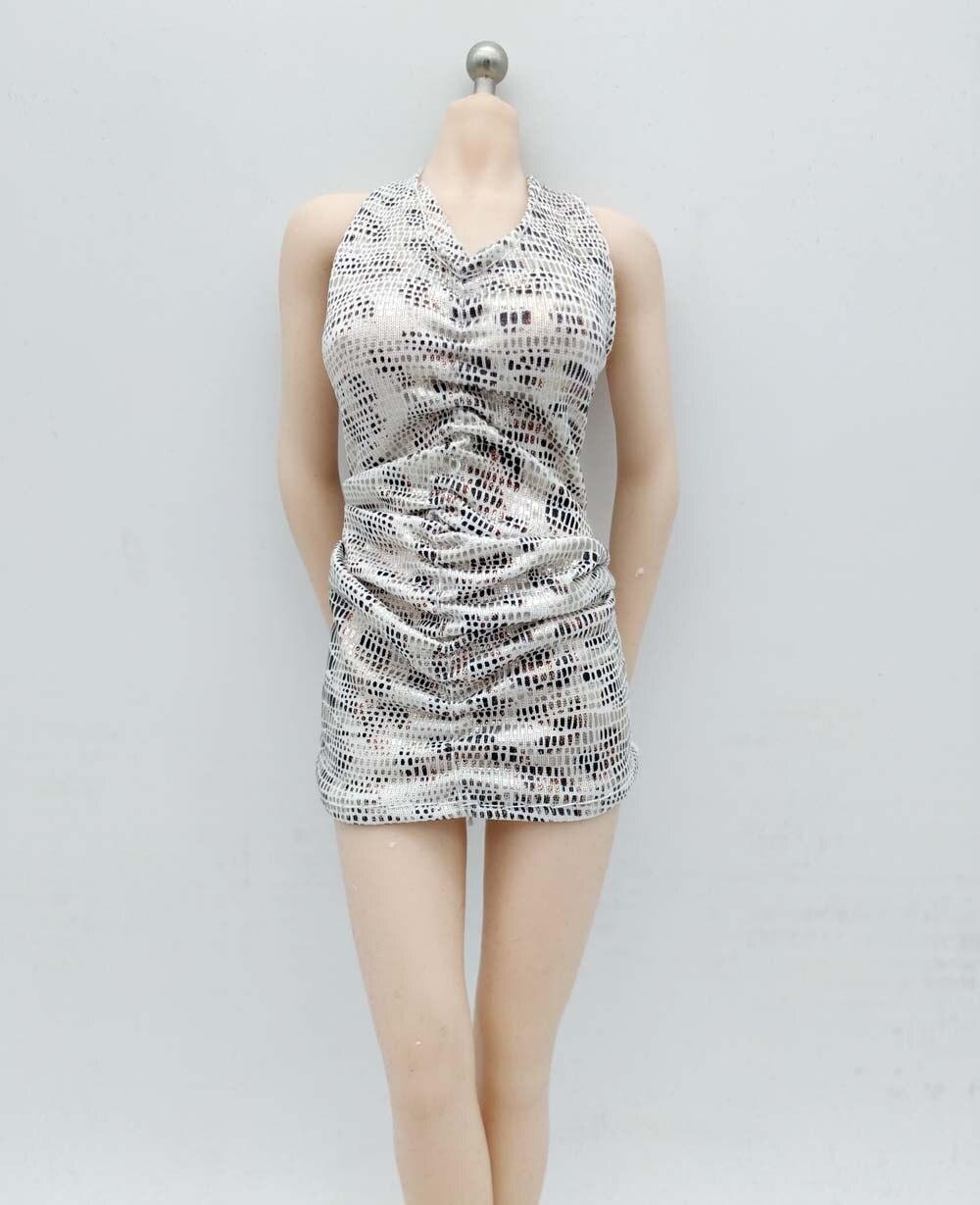 O figura DE ACCIÓN DE Phicen Tbleague JIAUOL de 12 pulgadas, juguete coleccionable a escala 1/6, vestido Sexy brillante, falda, ropa f