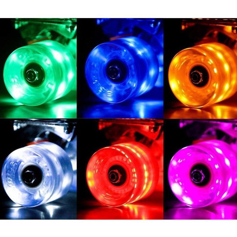 Rueda de PU del monopatín del Cruiser del Flash del LED para la tabla del Longboard del patín de la calle tabla banana