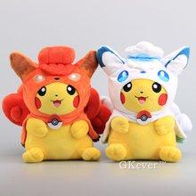 Mignon 2 Styles Alola Vulpix & Vulpix Cosplay Pikachu peluche Kawaii jouets en peluche 11