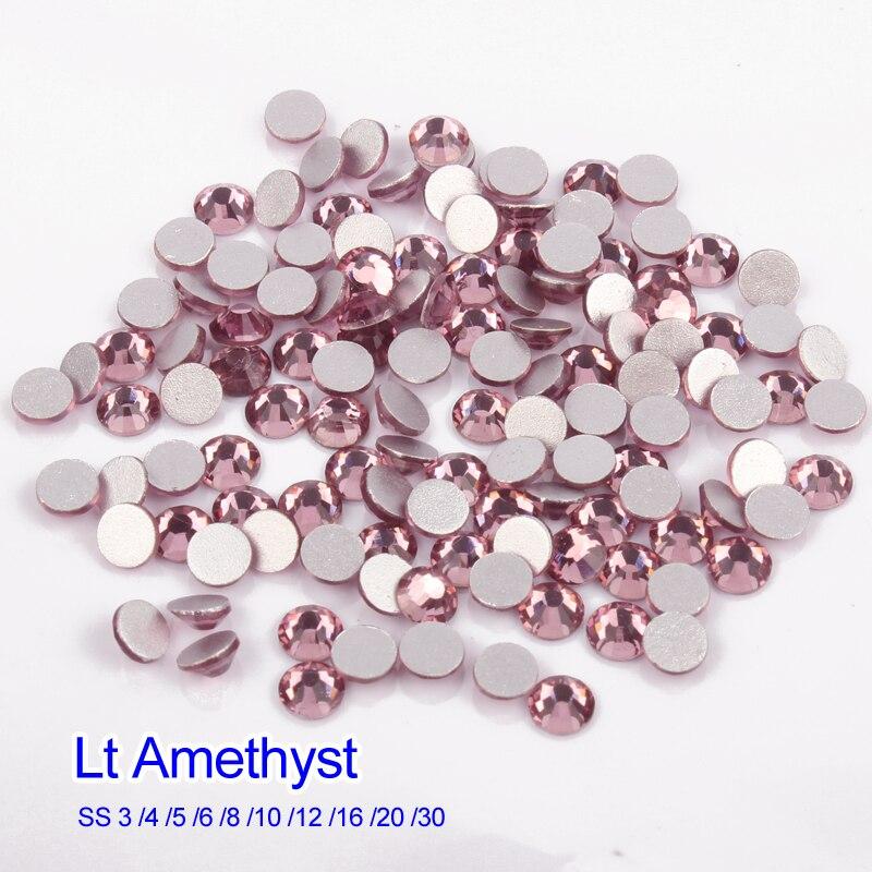 ЛТ аметист, стразы для дизайна ногтей, SS3-SS20(1440)/SS34(288 шт.) для ногтей, 3D украшения для ногтей, аксессуары для маникюра