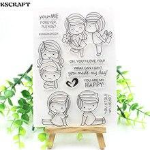 KSCRAFT-timbres en Silicone Transparent   Pour Scrapbooking/fabrication de cartes, Transparent et clair, fournitures de décoration amusante pour enfants, 174