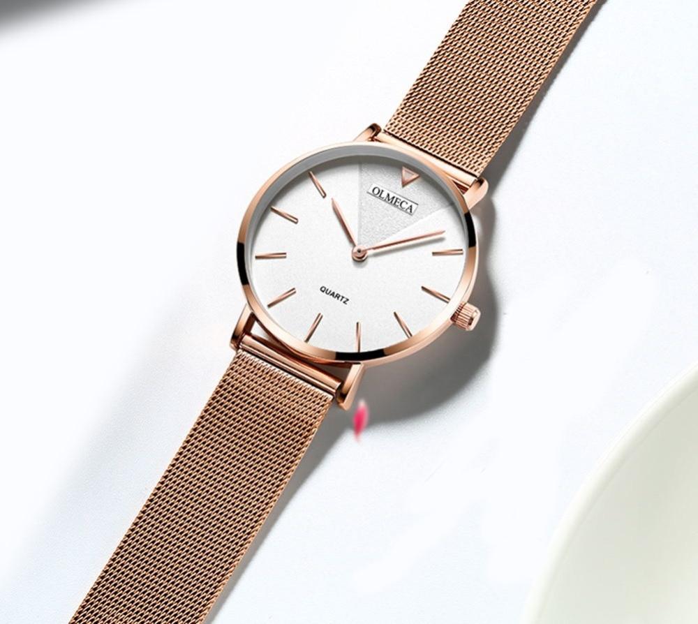 Top Brand OLMECA Watch Women Watches Fashion Wrist Watch Water Resistant Relogio Feminino For Woman Reloj Mujer Alloy  Band enlarge
