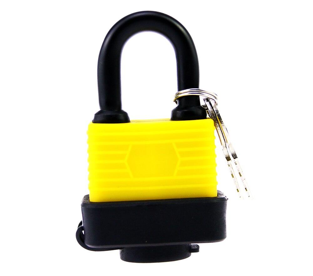 Anti Static Waterproof Padlock 40mm Short Beam Yellow Waterproof Home Gate Door Lock Padlock Keyed Master Padlock