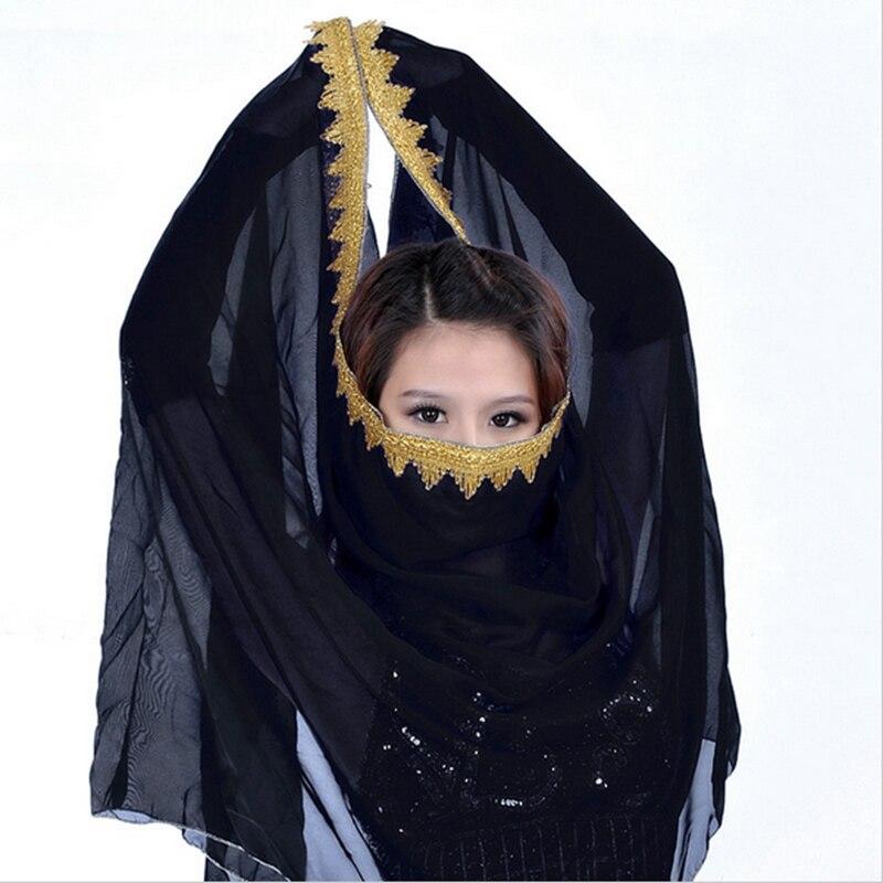 12 colores Sari Dancewear India ropa de danza del vientre envoltura cabeza bufanda gasa encaje tocado Bollywood danza velo para la cabeza