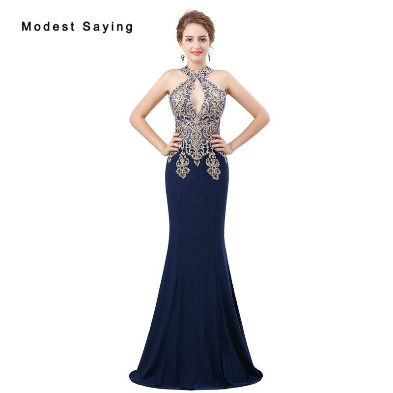 ¡Moda 2018! Vestidos de Noche de encaje azul marino con cuentas, vestidos de noche sexis transparentes, vestidos de fiesta de sirena, vestidos de fiesta, vestidos de noche