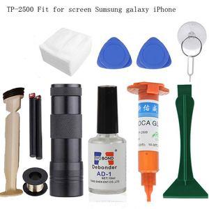 High Quality Original TP-2500 LOCA UV liquid optical clear adhesive uv glue for touch screen sumsung galaxy iPhone+opener