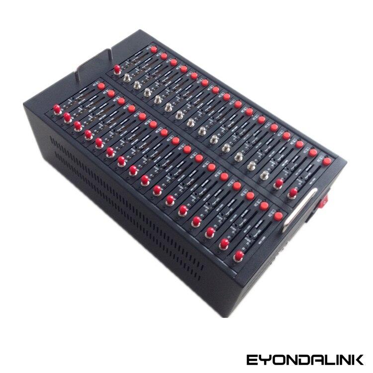 Interface USB double bande 900/1800MHZ 32 PORTS GSM Modem piscine 32 cartes SIM