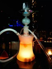 2.8 pouces verre narguilé Shisha eau fumer tuyau lumière LED base lumière à LED submersible de mariage centres de table décoration