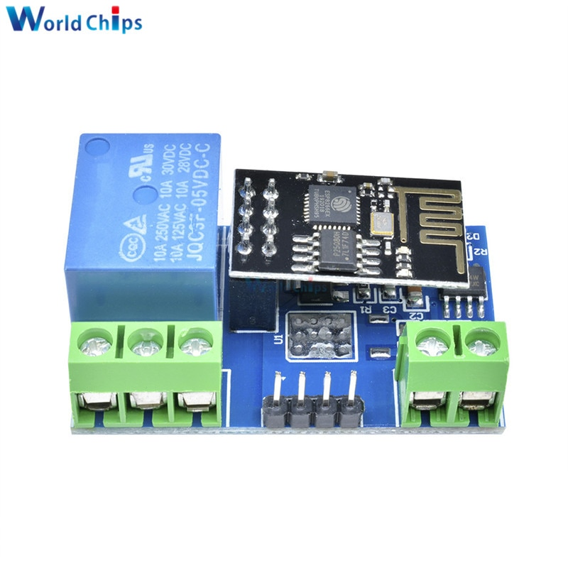 Módulo de relé de red WIFI ESP8266, relé de controlador de aplicación de Internet de las cosas (IOT) 7-5 V 10A 30V DC/250 V AC para automatización del hogar