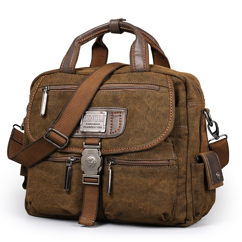 2017 Ruil Retro Canvas Messenger Bags Multifunction Men Shoulder Briefcase Leisure Travel Handbag Toolkit Vintage Package