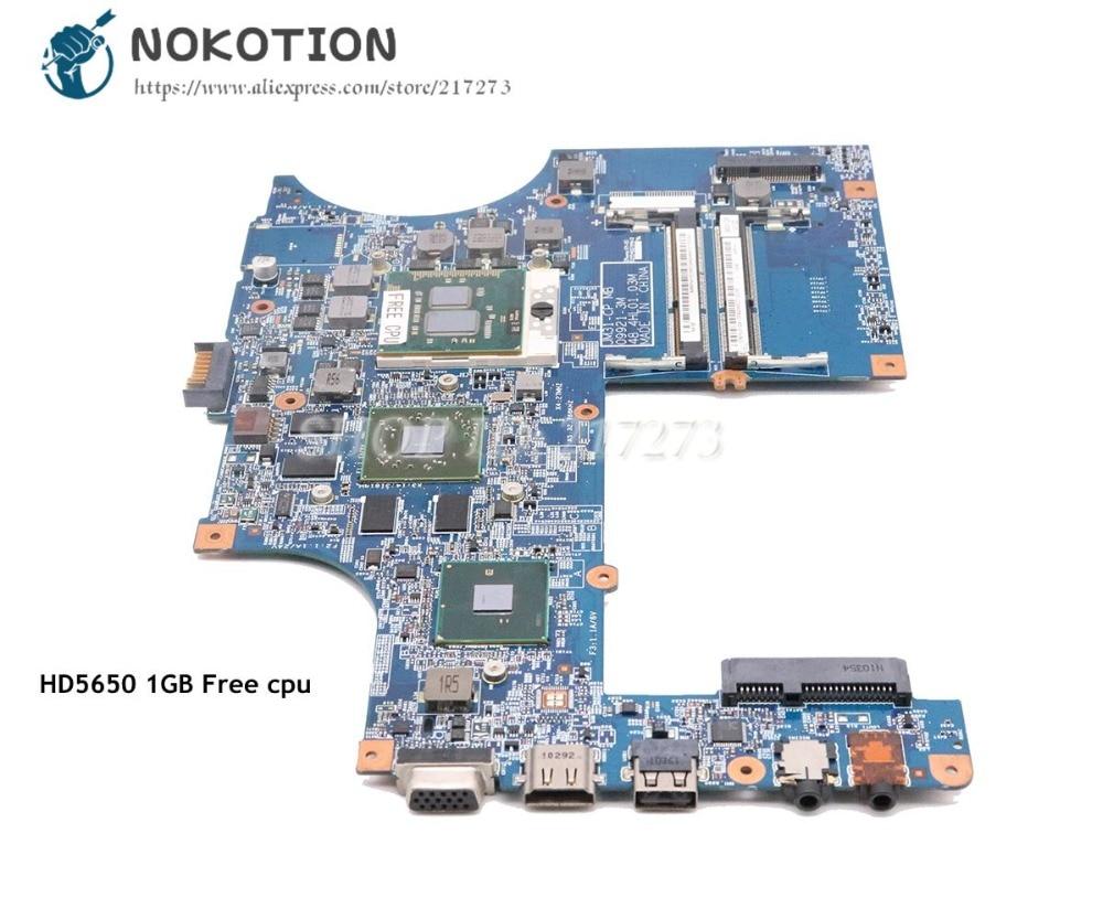 NOKOTION para Acer asipre 3820 3820TZG placa base de computadora portátil JM31-CP MB 48.4HL01.03M MBREM01002 MBPV101001 HD5650M 1 GB cpu