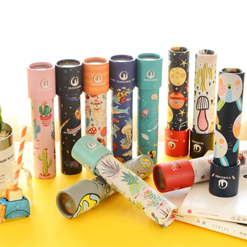 Animales de dibujos animados 3D caleidoscopio alcance clásico caleidoscopio juguetes educativos colorido imaginativo mejor regalo para niños