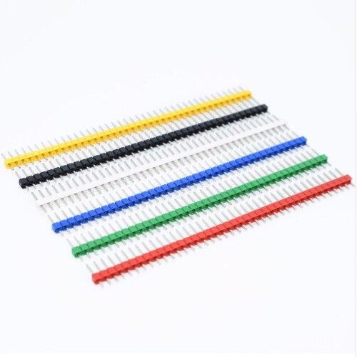 10pcs 40 Pin 1x40 Single Row Masculino 2.54 Breakable Pin Header Conector Faixa