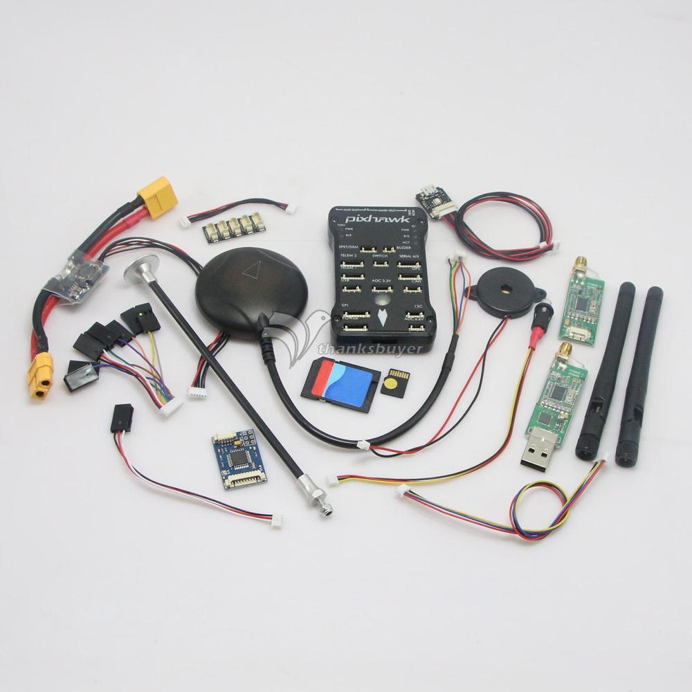 PX4 2.4.7 Pixhawk 32 бит ARM Контроллер полета золотой разъем с покрытием и NEO 7M GPS 8G tf-карта и Led и PPM 433 МГц