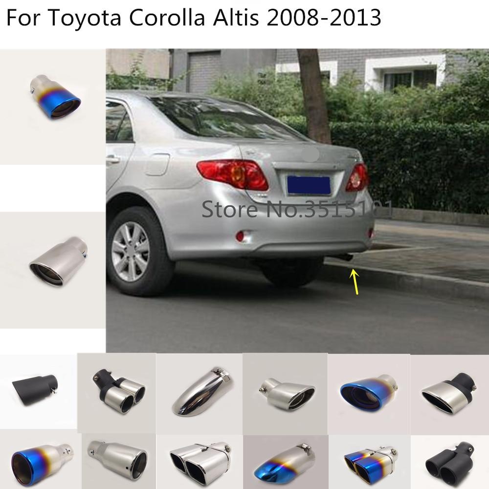 Estilo do corpo do carro capa silenciador tubo saída dedicar ponta de escape cauda 1 pçs para toyota corolla altis 2008 2009 2010 2011 2012 2013