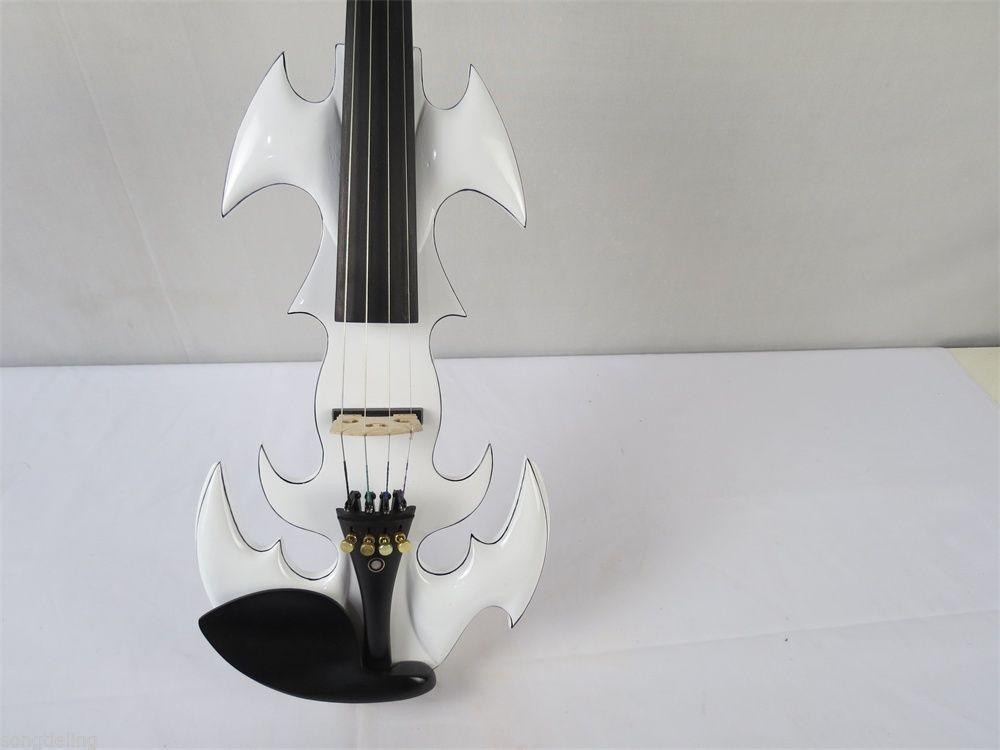 New model white color SONG Brand art streamline 4 string 4/4 electric violin enlarge