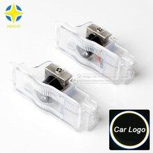 2 шт., автомобильные двери, светодиодные логотипы для Peugeot 308 408 508 3008 4008, Автомобильные светодиодные привидения, тени, проектор, лазерный логот...