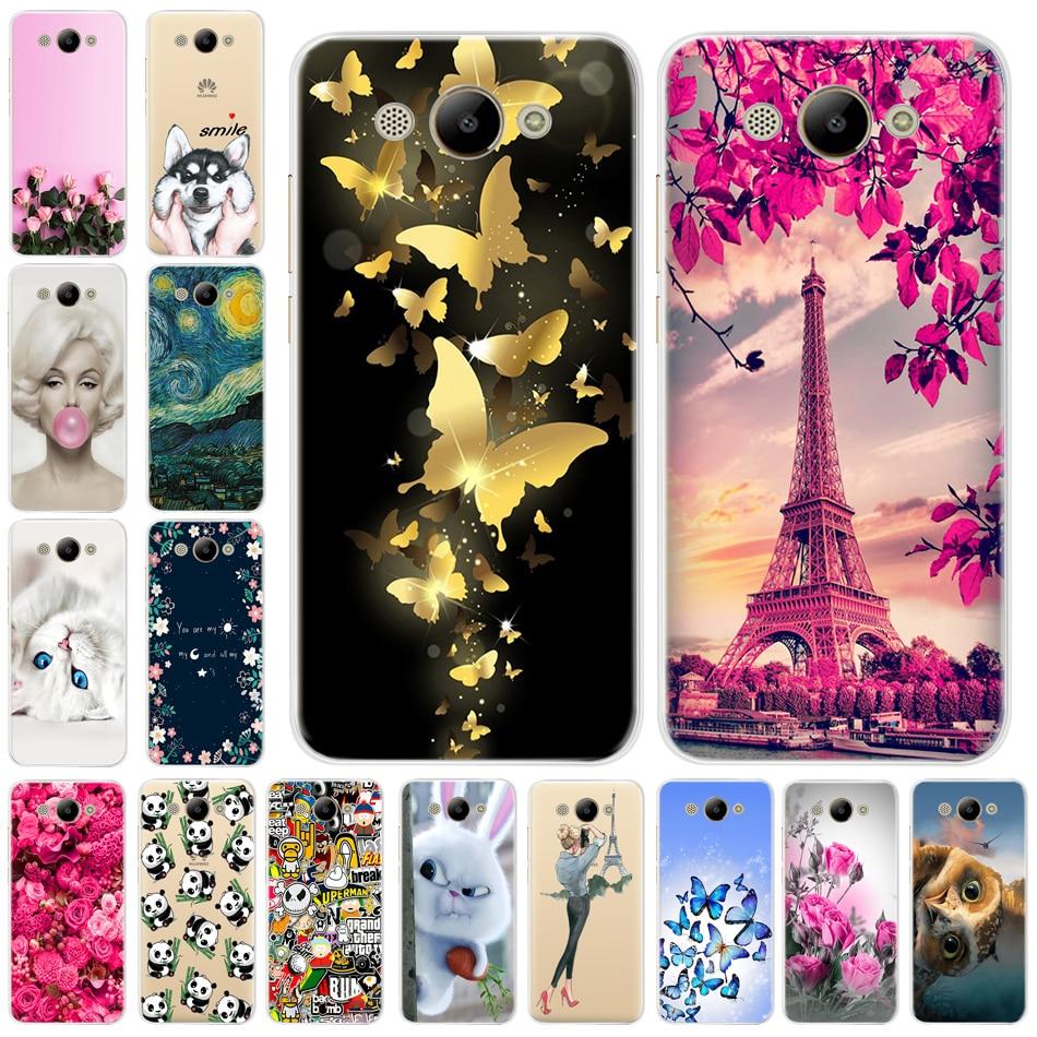 Moda Caixa Do Telefone Para Huawei Y3 2017 CRO-L22 CRO-U00 Y3 Huawei 2017 Silicone Macio 360 Agradável Tampa Traseira Para Huawei caso Y3 2017 3D