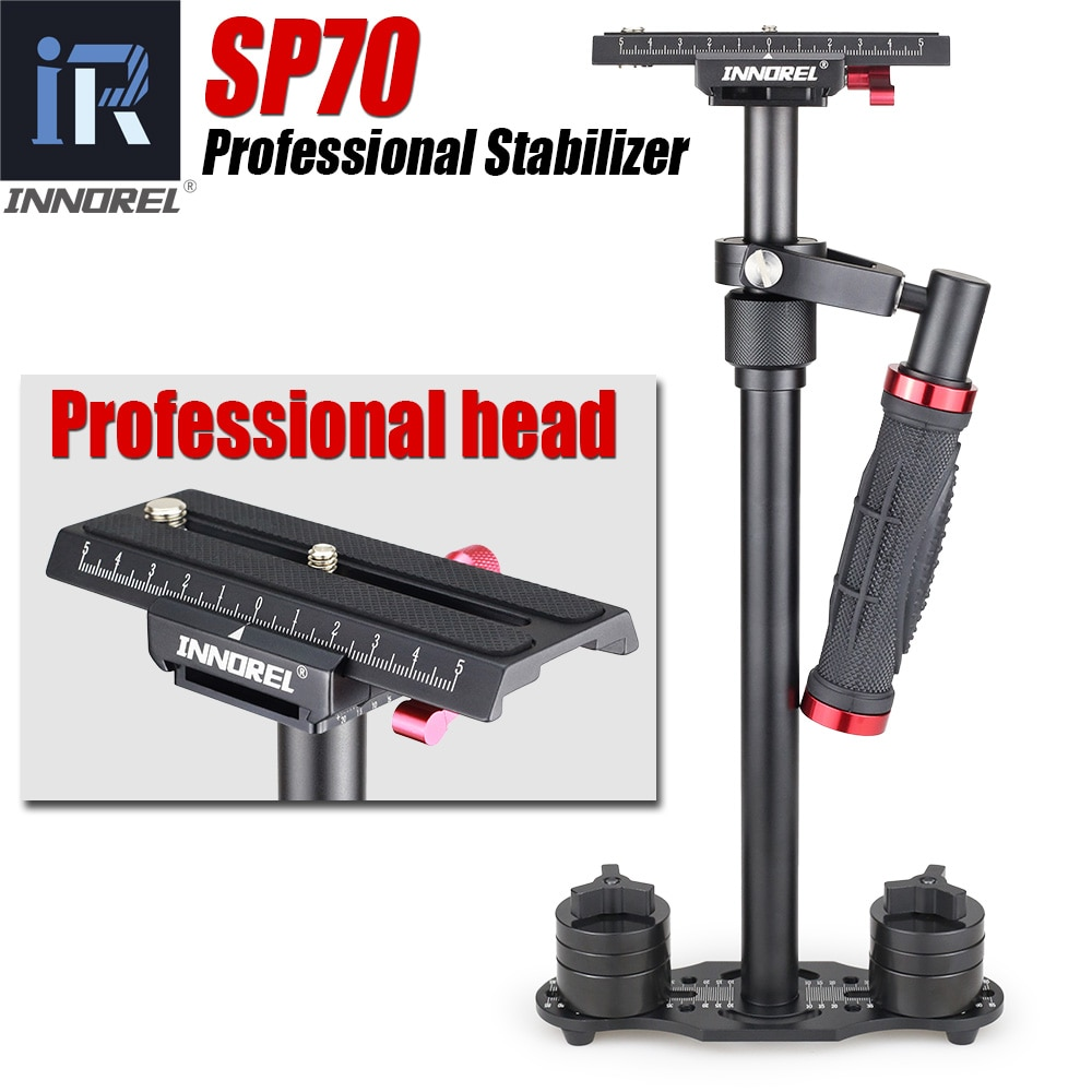Estabilizador de mano de aluminio Steadycam SP70 Steadicam cámara de vídeo DSLR para fotografía, sistema estabilizador de carga 3,0 kg