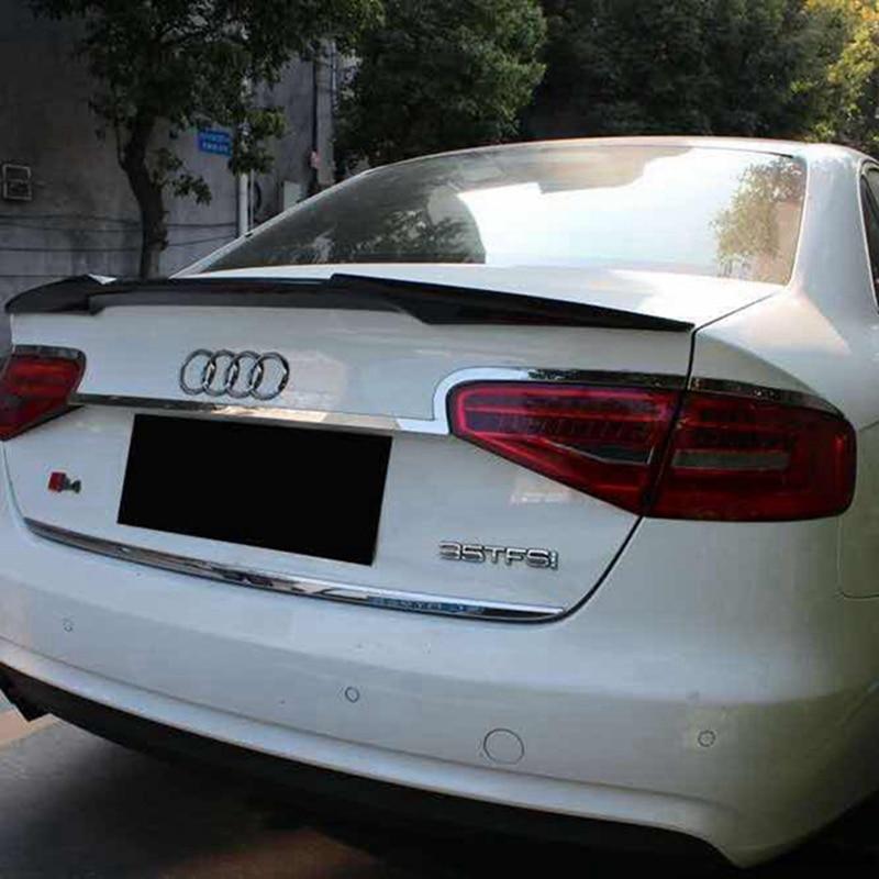 Alerón trasero de coche para Audi A4 A4L estilo belga Alerón trasero de fibra de carbono de alta calidad para Audi B8 B8.5 Spoiler 2011-2015