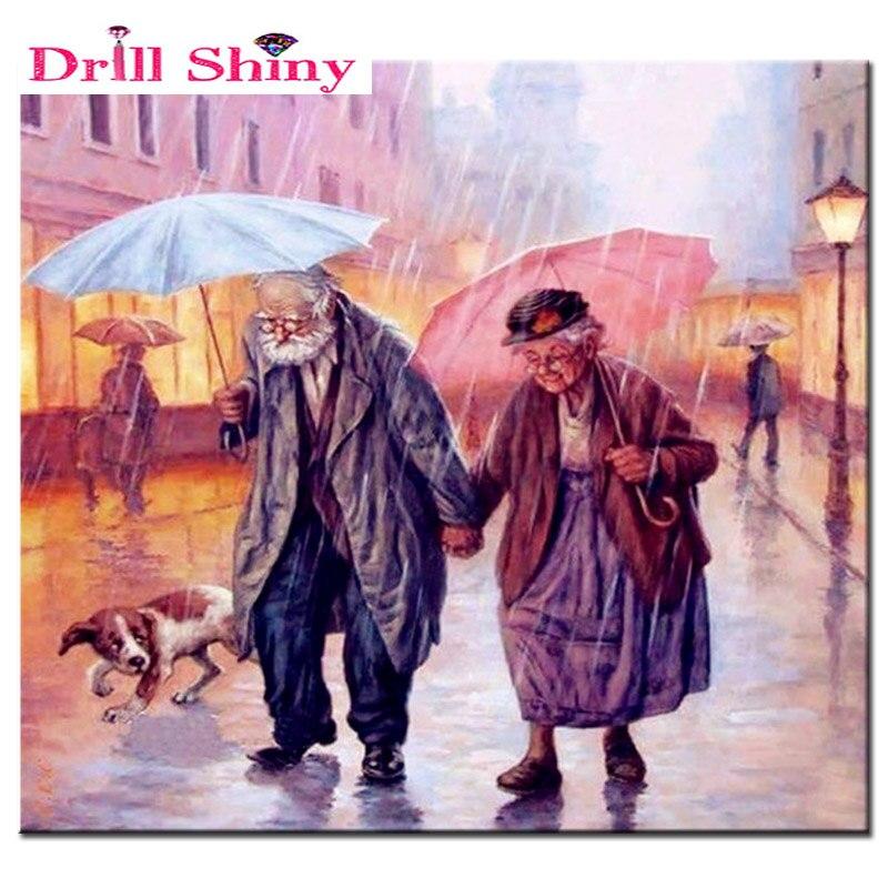 NEW Full diy Daimond Painting 3D diamond Mosaic full square rhinestones diamond painting embroidery Loving old couple