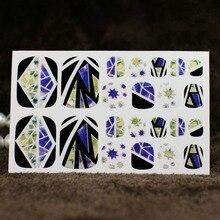 16 pièces Ongles Art Autocollants Verre Brisé Pièce 3D Effet Miroir Pochoir Autocollant Décoration Outil De Manucure Brillant Laser Ongle Autocollant