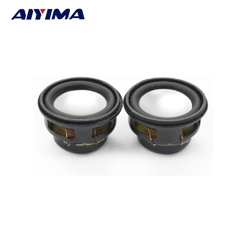 AIYIMA 2Pcs Mini Audio Speaker 27MM 4Ohm 3W Bass Multimedia Portable Speakers Audio Woofer Loudspeaker DIY
