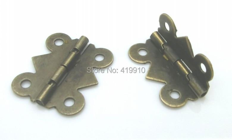 Free Shipping-50pcs Antique Bronze 4 Holes Door Butt Hinges 20x24mm,Wide Size19mm-20mm J1245