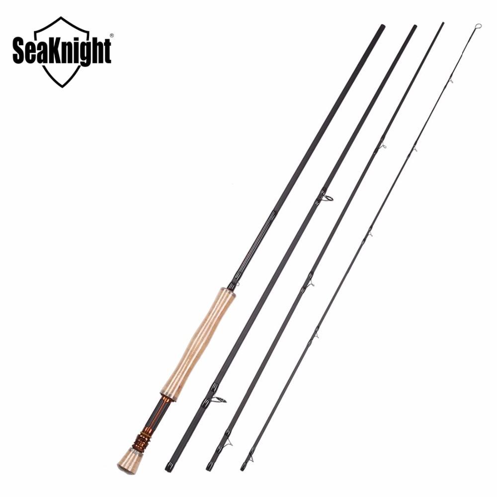 SeaKnight MAXWAY HONOR 7/8# Carbon Fiber Fly Rod Combo 3.0M Rod  Fishing Reel 7/8 Metal+Fly Line+Lure+LureBox Fishing Set