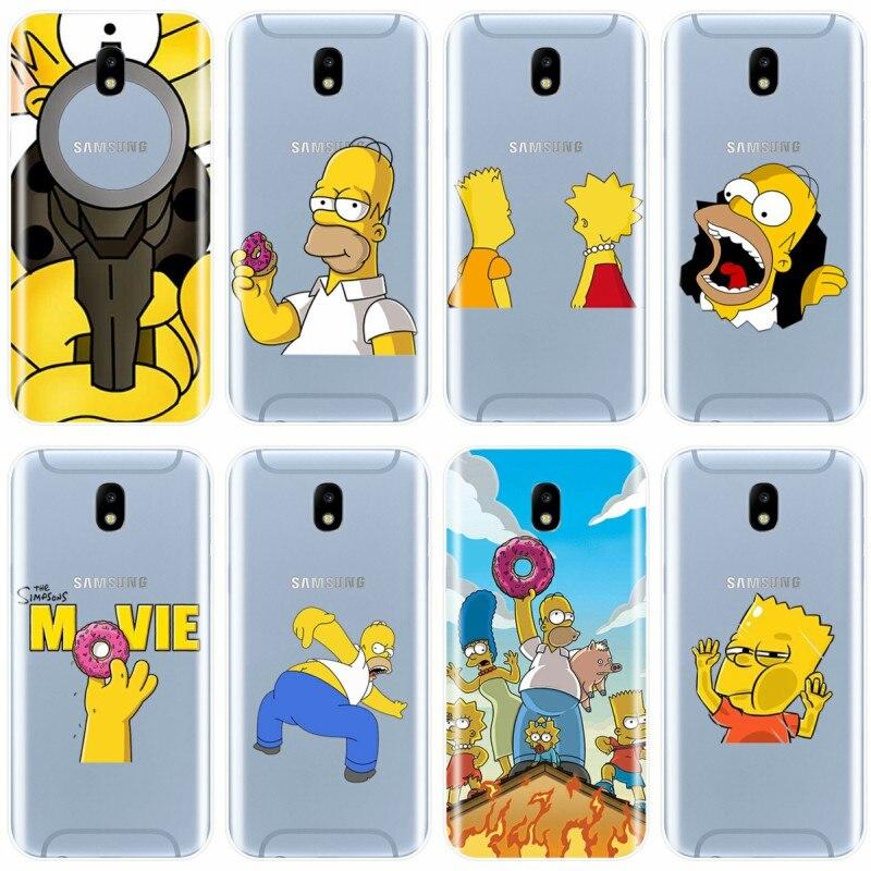 Funda de teléfono de Los Simpsons para Samsung Galaxy J5, J7, 2016, J3, J5, J7, 2017, J7PLUS, J7MAX, J3PRO, J3, J4, J6, J8, 2018