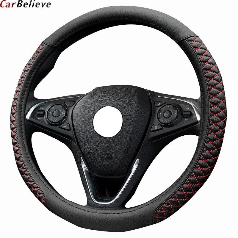 Coche creer de cuero protector para volante de coche para kia ceed rio 3 2018 sorento K5 sportage 3 cerato k3 volante Accesorios