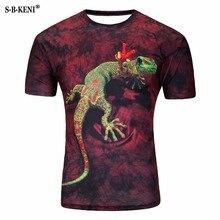 3D мужская футболка с коротким рукавом, хлопковая Футболка в стиле хип-хоп с принтом животных и о-вырезом, индивидуальная Футболка с принтом ...