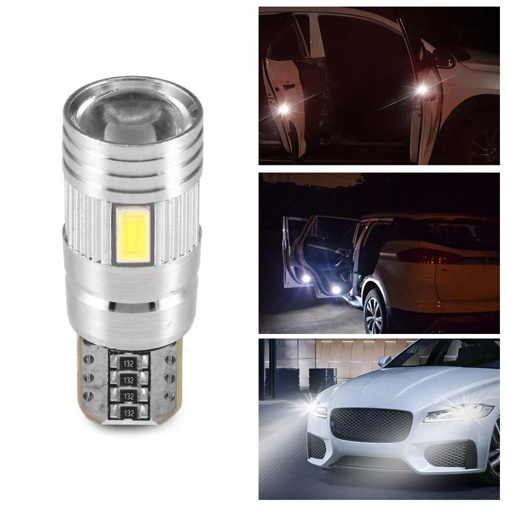2 Pairs LED T10 Light Bulbs 168 194 W5W Wedge Light Bulb Car 5630SMD White Side Marker Bulb 7000K 12V