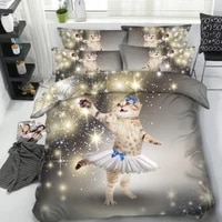 cat 3d bedding set duvet cover bed in a bag sheet sheets linen bedspread cartoon bedset super king queen size double twin 4pcs
