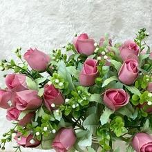 10 heads/1 bundle Tea rose bouquet silk Artificial Flowers Wedding birthday party decorations rose artificielle fake flower gift