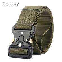Facecozy Men Tactical Belt multifunctional Training Waistband Fast-Opening Military Belt Outdoors Hiking Climbing Waist Support