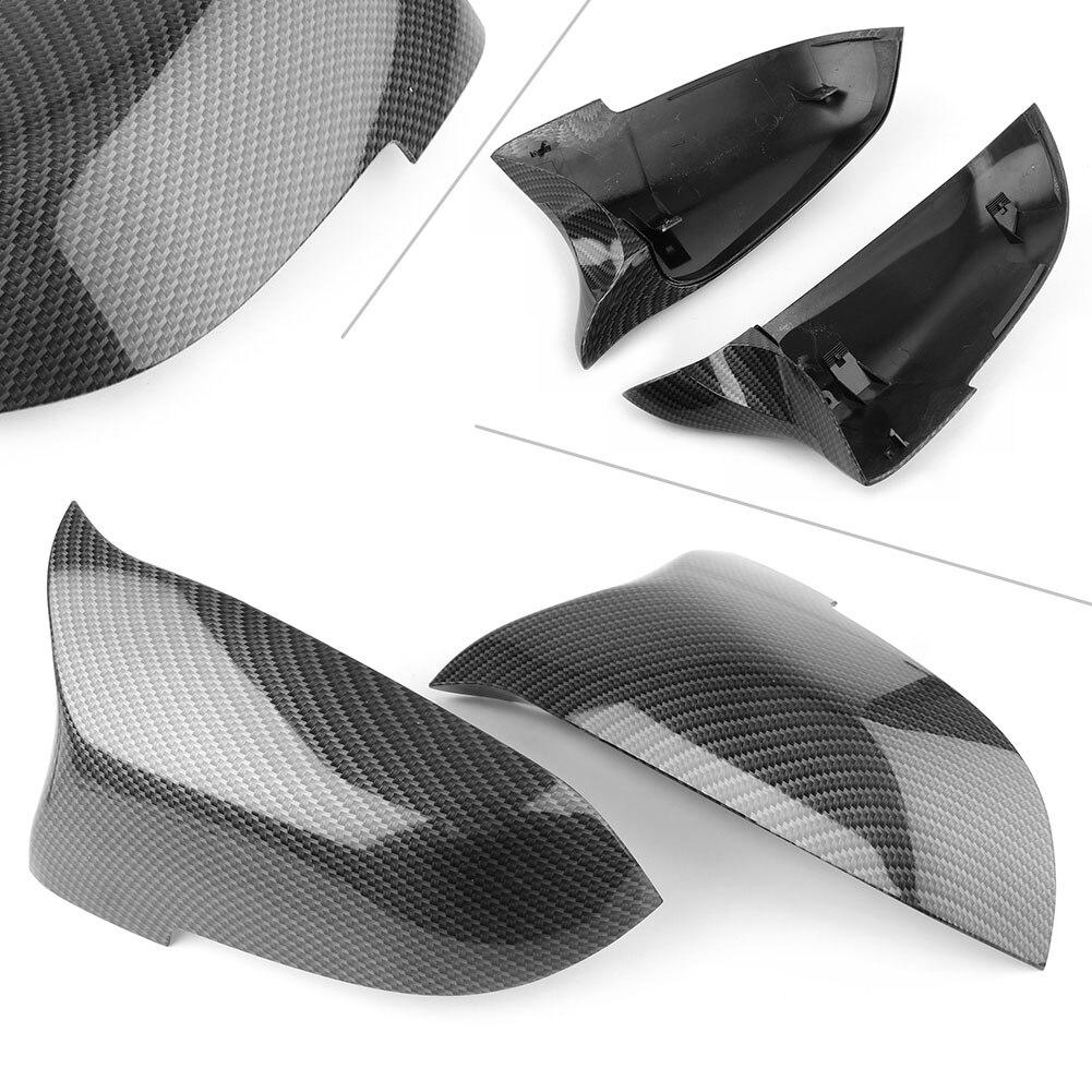 Cubierta de espejo retrovisor lateral Auto 2 uds. Para BMW F10 F11 F01 F06 F07 F12 F13 LCI accesorios de fibra de carbono Stytle para coche