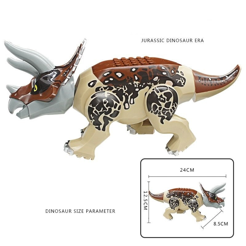 Sermoido Tyrannosaurus Rex Dinosaur Bricks Jurassic World Model Collection Building Blocks Toys For Children Birthday Gifts