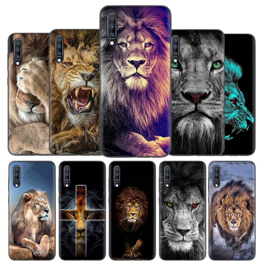 Silicone Case Cover For Samsung Galaxy A50 A80 A70 A60 A40 A30 A20 A20e A10 A71 A51 A21 Note 8 9 10 Plus 5G Lion Alpha Male Cub