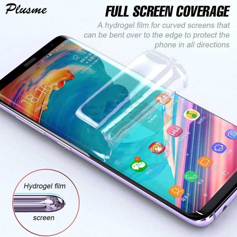 Película completa de hidrogel para Samsung Galaxy S10 S9 S8 Plus A8 película protectora de pantalla suave para Samsung Note 10 9 8 S10 Plus Lite 5G