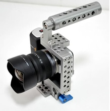 Stabilisateur de Cage vidéo DSLR + poignée supérieure pour Sony A7 A7S II A7R A6000 A6300 A5000 NEX-7/GH3 GH4/BMPCC