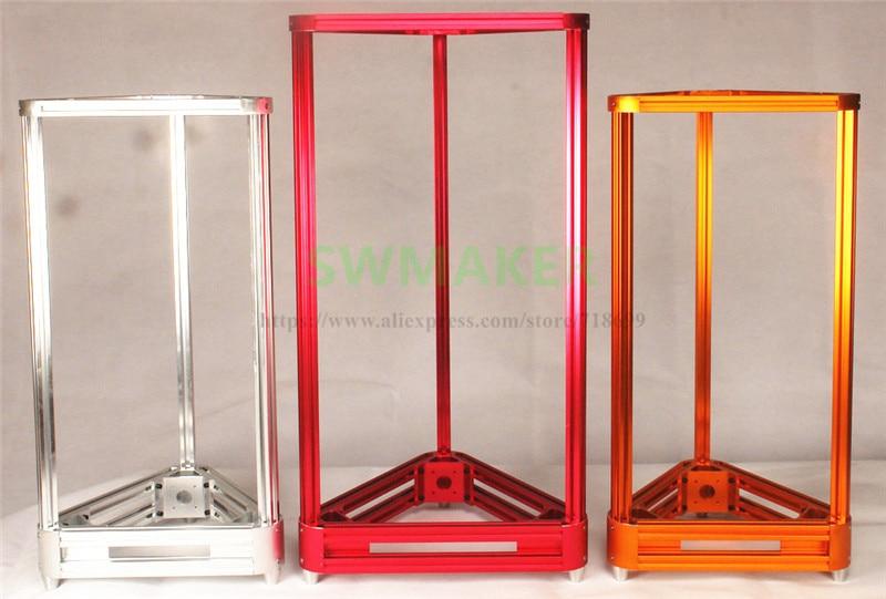 Reprap Delta Rostock kossel metal frame motor mount 2020 aluminum profile Bottom vertex Top vertex kit for DIY 3D printer