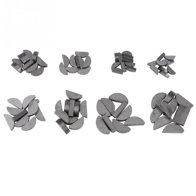 80PCS/Lot Metal Woodruff Keys Assortment Kit Set Different Sizes Fasteners Mechanical Industry