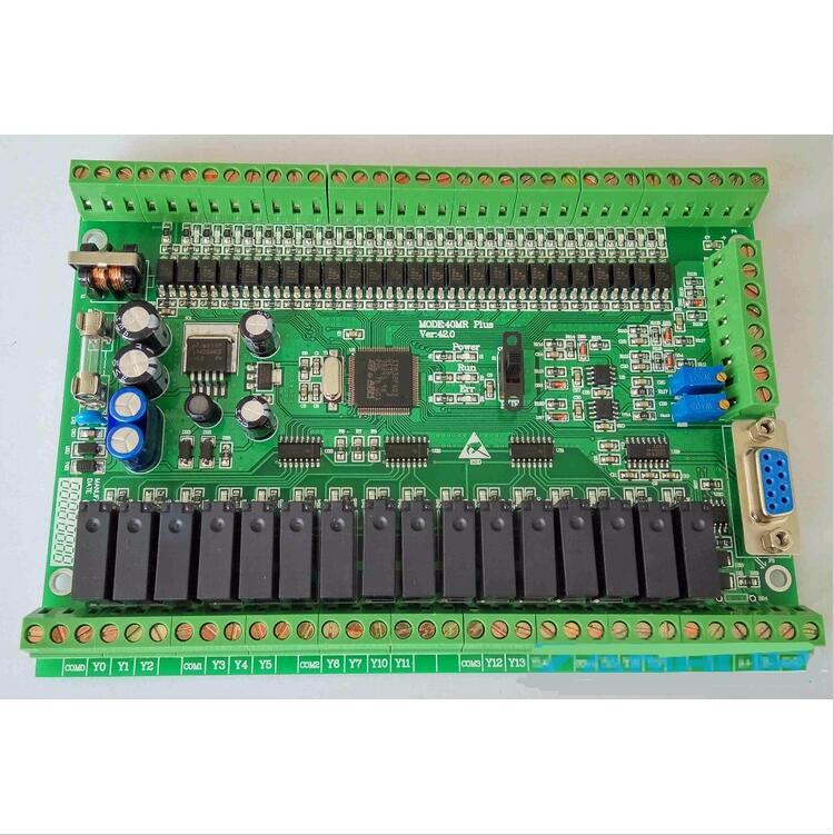 Tablero de control industrial PLC FX1N FX2N 40MR 4AD 2DA descarga directa puede ser incluso texto de pantalla táctil