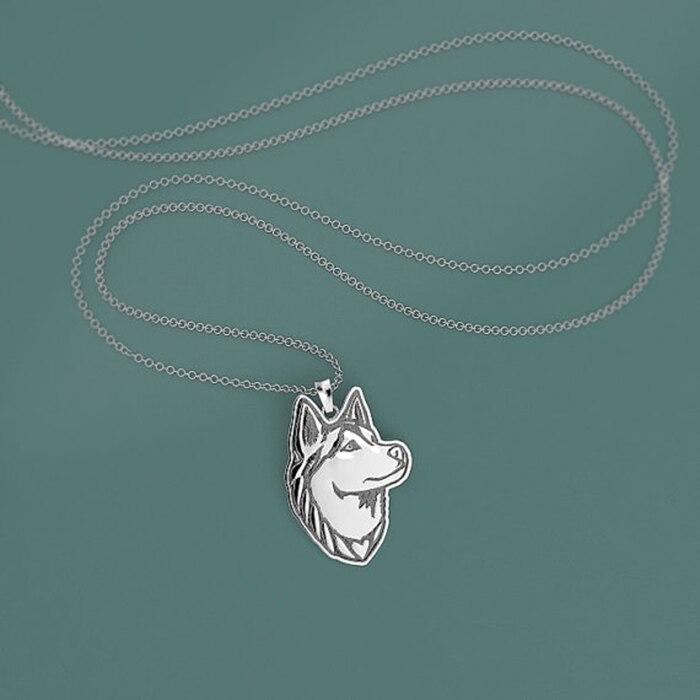 Margaritas una pieza colgante de collar hecho a mano de Siberia Lobo...