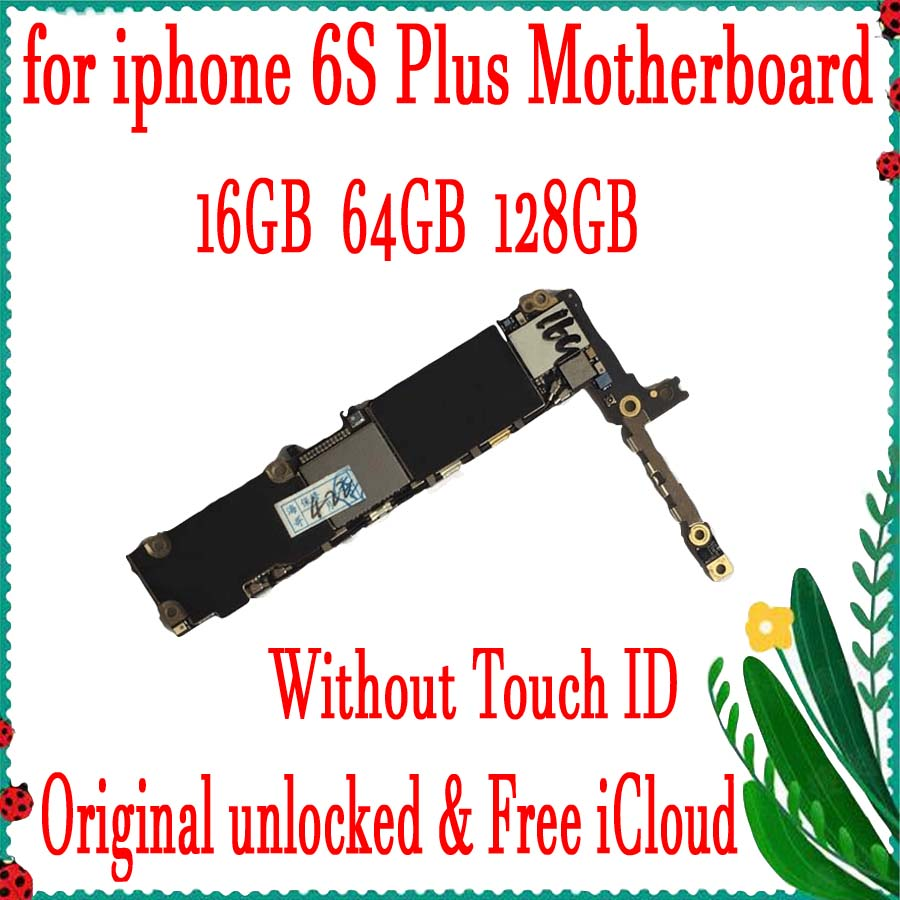 16GB 64GB 128 مصنع مقفلة آيفون 6s زائد 5.5 بوصة اللوحة الأم ، 100% الأصلي مع رقائق كاملة المنطق المجلس مع/لا معرف اللمس