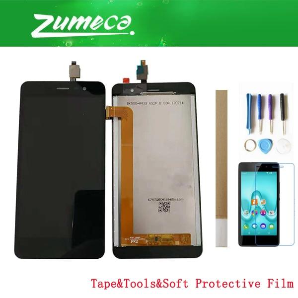 Pantalla LCD de alta calidad de 5,0 pulgadas para Wiko Tommy 2 + digitalizador de pantalla táctil pieza de repuesto Color negro con Bluetooth